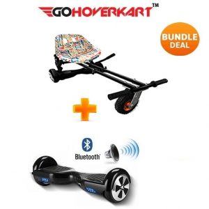 Monster Hoverkart And 6.5″ Bluetooth Hoverboard Graffiti Go Monster Bundle