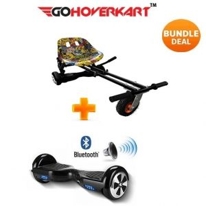 Monster Hoverkart And 6.5″ Bluetooth Hoverboard Hip Hop Go Monster Bundle