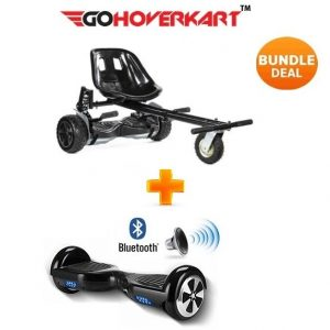 Monster Hoverkart And 6.5″ Bluetooth Hoverboard Carbon Black Go Monster Bundle