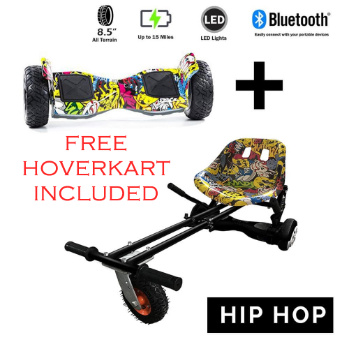 FREE Hip Hop Suspension & Springs Hoverkart with the All Terrain 8.5″ Hip Hop Hummer Hoverboard