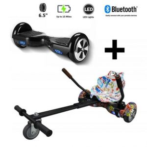 Hoverkart And 6.5″ Bluetooth Hoverboard Graffiti Go Racer Bundle