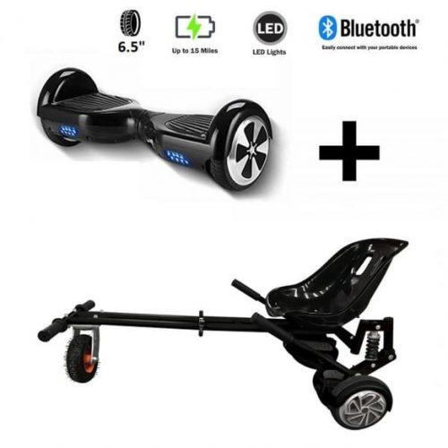 Monster Hoverkart And 6.5″ Bluetooth Hoverboard Carbon Black Go Monster Bundle