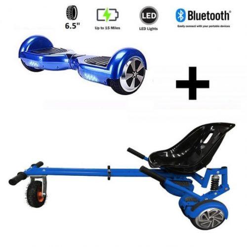 Monster Hoverkart And 6.5″ Bluetooth Hoverboard Midnight Blue Go Monster Bundle