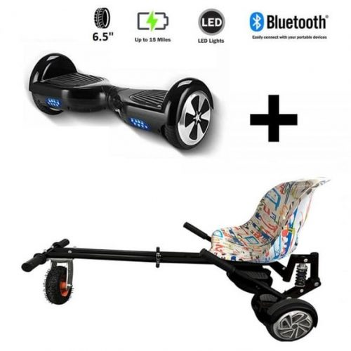 Monster Hoverkart And 6.5″ Bluetooth Hoverboard Graffiti Go Monster Bundle