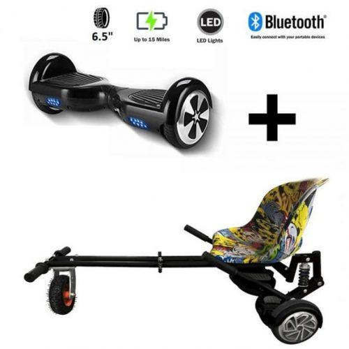Monster Hoverkart And 6.5″ Bluetooth Hoverboard Hip Hop Go Monster Bundle
