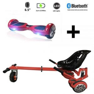 Monster Hoverkart And 6.5″ Bluetooth Hoverboard Daytona Red Go Monster Bundle