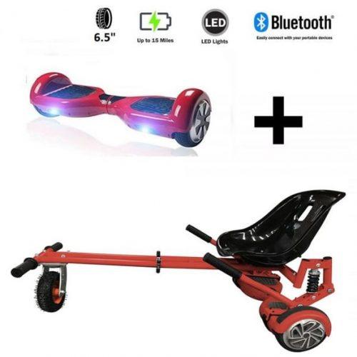 Monster Hoverkart And 6.5″ Bluetooth Hoverboard Daytona Red Go Monster Bundle