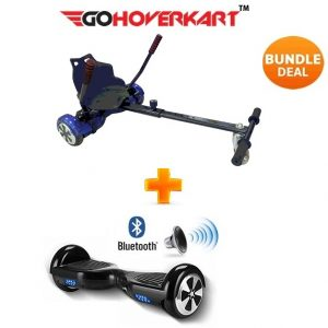 Hoverkart And 6.5″ Bluetooth Hoverboard Carbon Black Go Racer Bundle