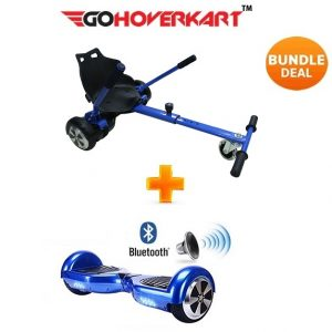 Hoverkart And 6.5″ Bluetooth Hoverboard Midnight Blue Go Racer Bundle