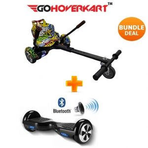 Hoverkart And 6.5″ Bluetooth Hoverboard Hip Hop Go Racer Bundle