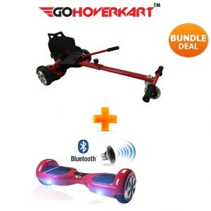 Hoverkart And 6.5″ Bluetooth Hoverboard Daytona Red Go Racer Bundle