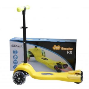 Kids Jet Spray LED Scooter – Yellow