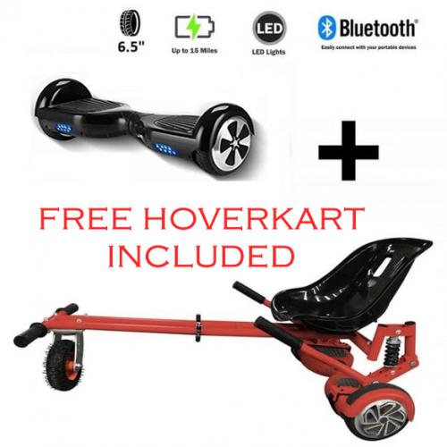 FREE Monster Hoverkart with 6.5″ Bluetooth Hoverboard Go Monster Bundle- Limited Offer!