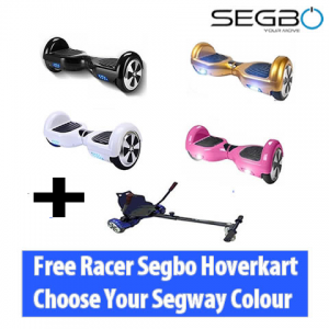 Segbo 6.5 Hoverboard with FREE Segbo Hoverkart Bundle Deal !