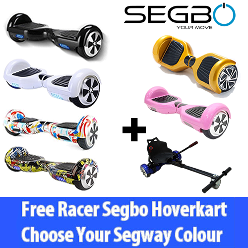 Segbo 6.5 Hoverboard with FREE Segbo HoverkartBundle Deal !