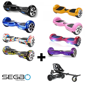 Segbo 6.5 Hoverboard with FREE Segbo Monster Hoverkart Bundle Deal!