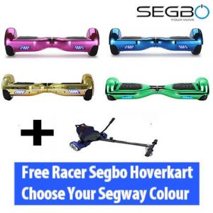 Segbo 6.5″ Chrome Hoverboard with FREE Segbo Hoverkart Bundle Deal!