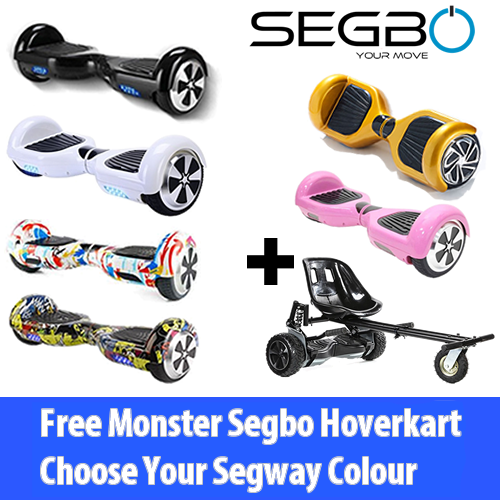 Segbo 6.5 Hoverboard with FREE Segbo Monster HoverkartBundle Deal!