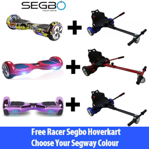Choose a Segbo 6.5 Hoverboard & get A FREE Segbo Hoverkart Bundle Deal !