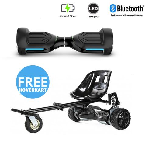 NEW – Segbo 6.5 G PRO Black Hoverboard & get A FREE Segbo Monster HoverkartBundle Deal !