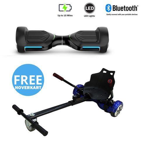 NEW – Segbo 6.5 G PRO Black Hoverboard & get A FREE Segbo Racer HoverkartBundle Deal !