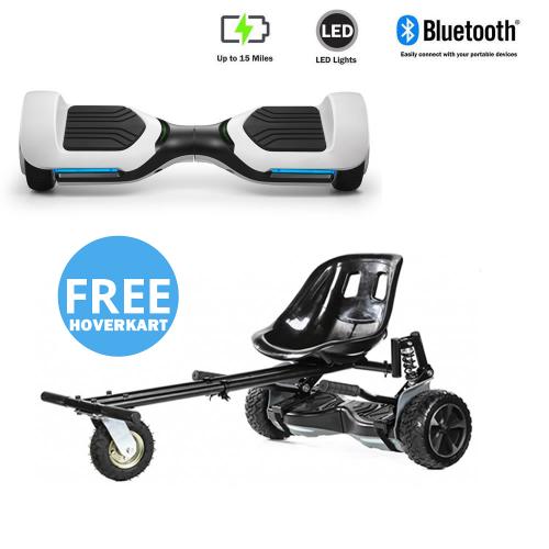 NEW – Segbo 6.5 G PRO White Hoverboard & get A FREE Segbo Monster HoverkartBundle Deal !