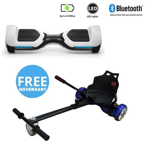 NEW – Segbo 6.5 G PRO White Hoverboard & get A FREE Segbo Racer HoverkartBundle Deal !