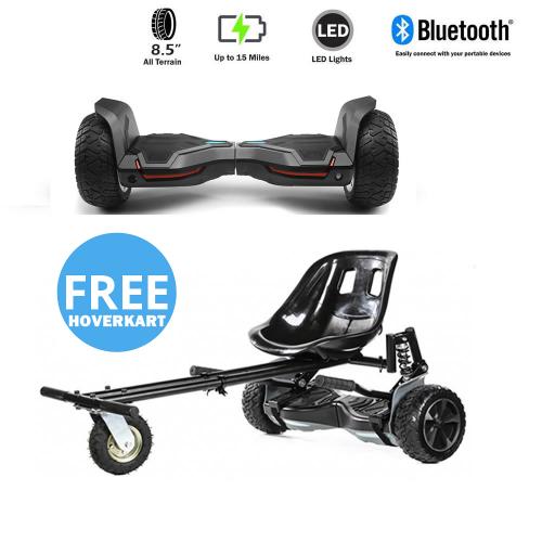 NEW – Segbo 8.5 G2 PRO Black Hoverboard & get A FREE Segbo Monster HoverkartBundle Deal !