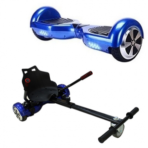 FREE Racer Hoverkart with 6.5″ Classic Blue Bluetooth Hoverboard Bundle