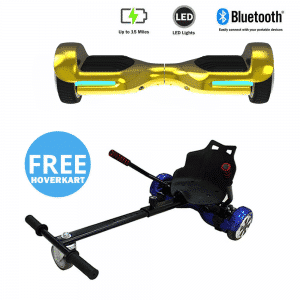 NEW – Segbo 6.5 G PRO Gold Chrome Hoverboard & get A FREE Segbo Racer Hoverkart Bundle Deal !