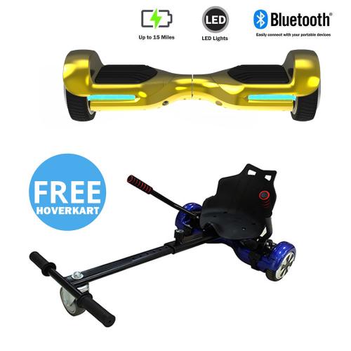 NEW – Segbo 6.5 G PRO Gold Chrome Hoverboard & get A FREE Segbo Racer HoverkartBundle Deal !