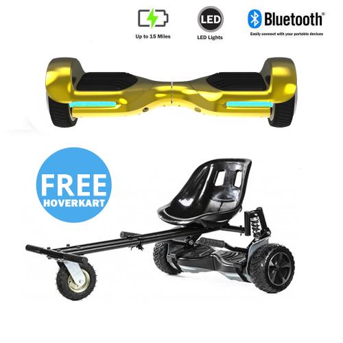 NEW – Segbo 6.5 G PRO Gold Chrome Hoverboard & get A FREE Segbo Monster HoverkartBundle Deal !