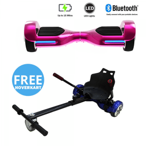 NEW – Segbo 6.5 G PRO Pink Chrome Hoverboard & get A FREE Segbo Racer HoverkartBundle Deal !