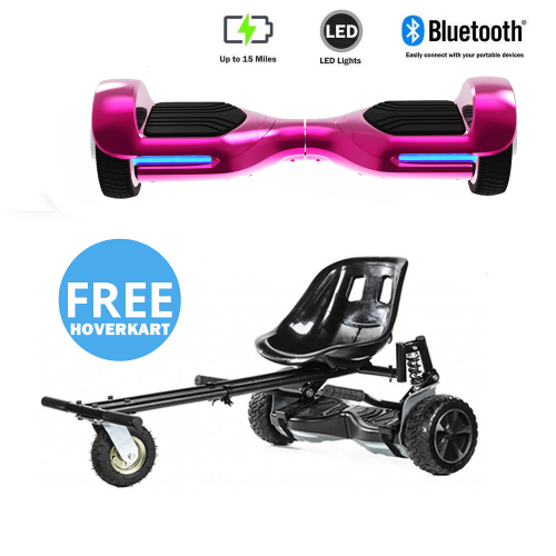 NEW – Segbo 6.5 G PRO Pink Chrome Hoverboard & get A FREE Segbo Monster HoverkartBundle Deal !