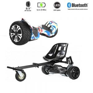 NEW – Segbo 8.5 G2 PRO Graffiti Hoverboard & get A FREE Segbo Monster Hoverkart Bundle Deal
