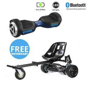 NEW – Segbo 6.5 G PRO Blue Hoverboard & get A FREE Segbo Monster Hoverkart Bundle Deal