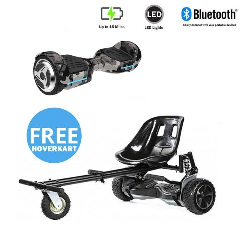 NEW – Segbo 6.5 G PRO Camo Hoverboard & get A FREE Segbo Monster Hoverkart Bundle Deal