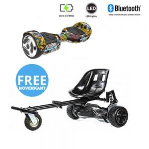 NEW – Segbo 6.5 G PRO Hip Hop Hoverboard & get A FREE Segbo Monster Hoverkart Bundle Deal