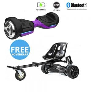 NEW – Segbo 6.5 G PRO Purple Hoverboard & get A FREE Segbo Monster Hoverkart Bundle Deal