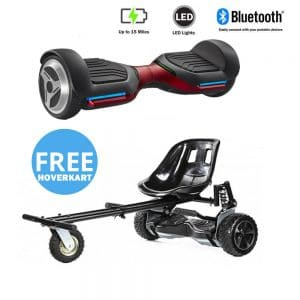 NEW – Segbo 6.5 G PRO Red Hoverboard & get A FREE Segbo Monster Hoverkart Bundle Deal