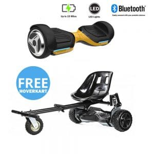 NEW – Segbo 6.5 G PRO Gold Hoverboard & get A FREE Segbo Monster Hoverkart Bundle Deal