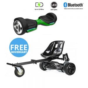 NEW – Segbo 6.5 G PRO Green Hoverboard & get A FREE Segbo Monster Hoverkart Bundle Deal