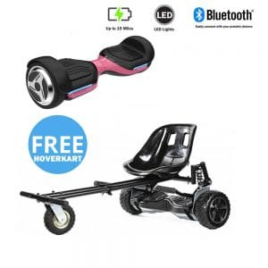 NEW – Segbo 6.5 G PRO Pink Hoverboard & get A FREE Segbo Monster Hoverkart Bundle Deal