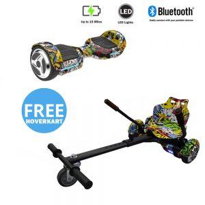 NEW – Segbo 6.5 G PRO Hip Hop Hoverboard & get A FREE Segbo Racer HoverkartBundle Deal !