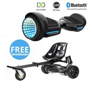 NEW – Segbo 6.5 G PRO Black Hoverboard with LED Wheels & get A FREE Segbo Monster HoverkartBundle Deal