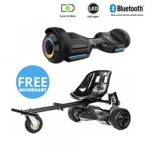 NEW – Segbo 6.5 G PRO Black Hoverboard with LED Wheels & get A FREE Segbo Monster Hoverkart Bundle Deal