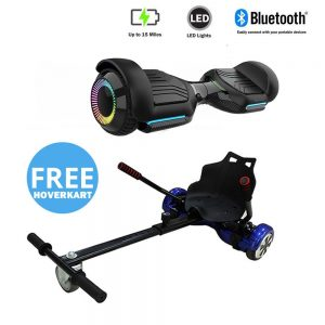 NEW – Segbo 6.5 G PRO Black Hoverboard with LED Wheels & get A FREE Segbo Racer Hoverkart Bundle Deal !